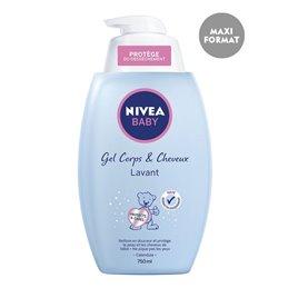 NIVEA BABY GEL LAVANT CHEVEUX ET CORPS POMPE 750 ML