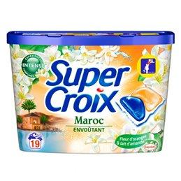 SUPERCROIX LESSIVE BOITE DUO-CAPS MAROC X19 DOSES - 380G NOUVEAUTE