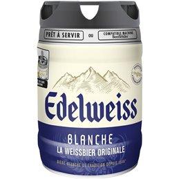 EDELWEISS 5°  Fût de bière blanche 5L - Compatible Beertender