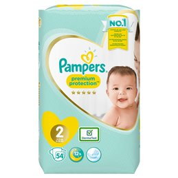 COUCHE BEBE TAILLE 2 - 4 à 8 kg  - Premium Protection - NEW BABY S2 MINI VALUE PACK X54