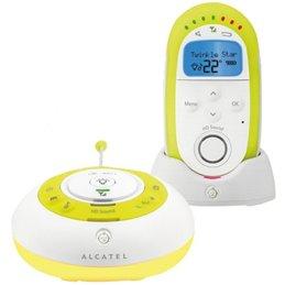 TEL BABY PHONE ALCATEL •Ecoutez et parlez à bébé •Son haute définition•Pas d'interférences •Mode visuel (silence) ou sonore •Niv
