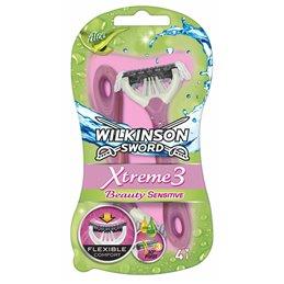 WILKINSON RASOIR JETABLE XTREME 3 BEAUTY SENSITIVE X 4