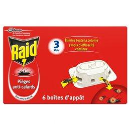 RAID PIEGES CAFARDS X 6 TE