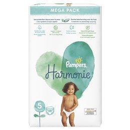 Couches bébé taille 5 : 11 kg et + - Harmonie  PAMPERS