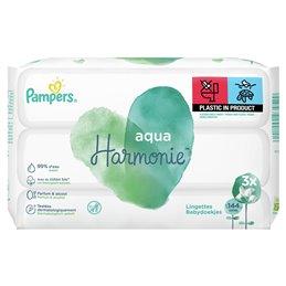 Lingettes bébé aqua Harmonie Pampers 3 x 48 soit 144 lingettes