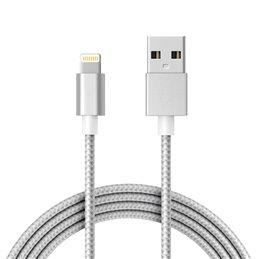 Cable de charge / Synchro lightning pour iPhone/iPad, longeur 1.8m Gris